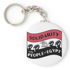 Solidarity with People of Egypt Keychain