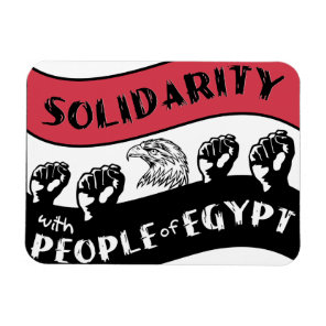 Solidarity with People of Egypt Magnet