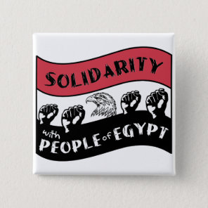 Solidarity with People of Egypt Pinback Button