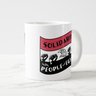Solidarity with People of Egypt Jumbo Mug