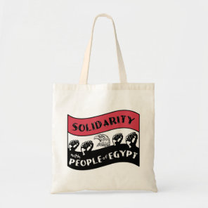 Solidarity with People of Egypt Tote Bag