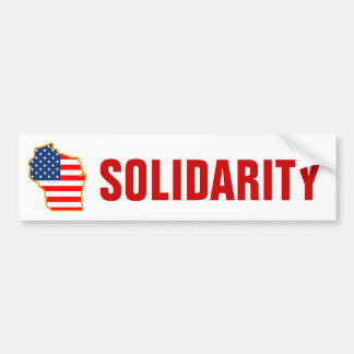 Solidarity with Wisconsin Workers Car Bumper Sticker
