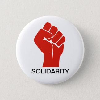 Solidarity With Wisconsin's Unions Button