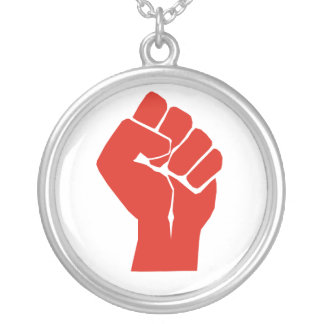 Solidarity With Wisconsin's Unions Silver Plated Necklace