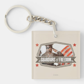 Solider-Guardian of Freedom Keychain