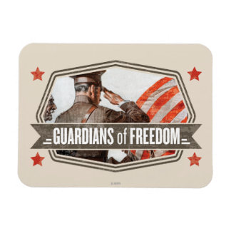 Solider-Guardian of Freedom Rectangular Magnets