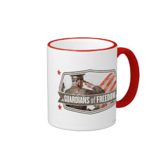 Solider-Guardian of Freedom Ringer Coffee Mug