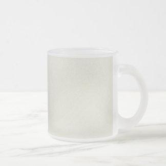 solidL LIGHT NEUTRAL CREAM TAN BEIGE COLOR BACKGRO Frosted Glass Coffee Mug