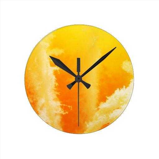 Sólido antiguo abstracto Shin del arte de la moda  Reloj De Pared