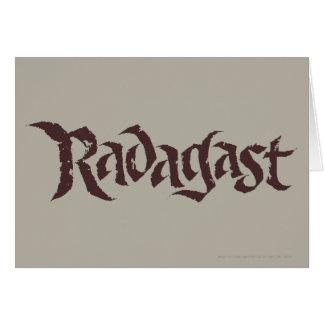 Sólido conocido de RADAGAST™ Tarjeta De Felicitación