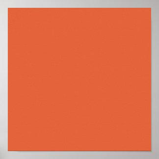 Sólido de gama alta de Koi coloreado Posters