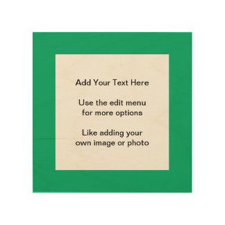 Sólido de gama alta del jade coloreado cuadro de madera