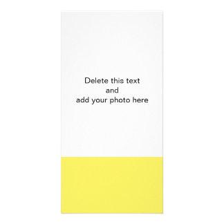 Sólido de gama alta del maíz coloreado tarjetas con fotos personalizadas