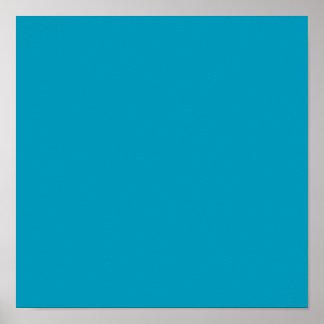 Sólido de gama alta del trullo coloreado poster