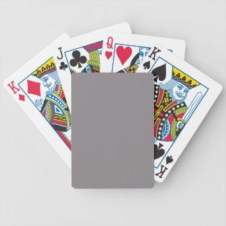 Sólido de gama alta gris de color topo coloreado baraja de cartas