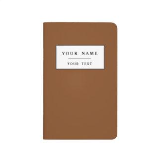 Sólido de gama alta pelirrojo coloreado cuaderno