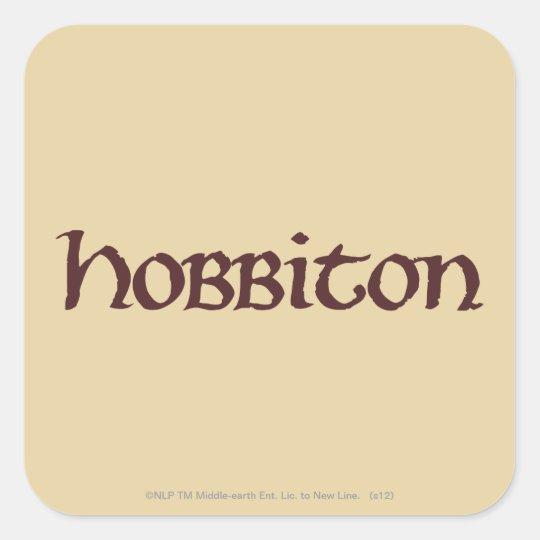 Sólido de HOBBITON™ Pegatina Cuadrada