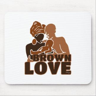 SÓLIDO DE LA FAMILIA DE BROWN TAPETE DE RATON