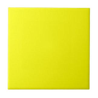 Sólido de neón brillante amarillo del color del am azulejo cuadrado pequeño
