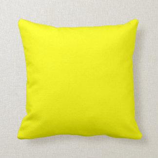 Sólido de neón brillante amarillo del color del am cojines