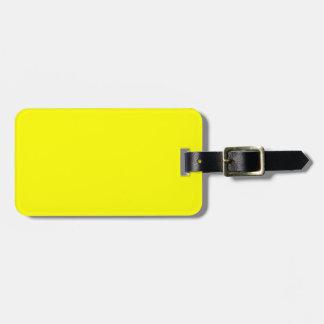 Sólido de neón brillante amarillo del color del am etiquetas de maletas