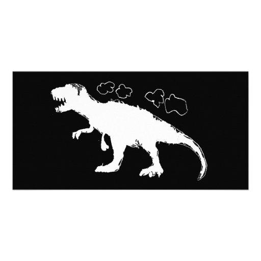 Sólido de T-Rex Tarjetas Fotográficas Personalizadas