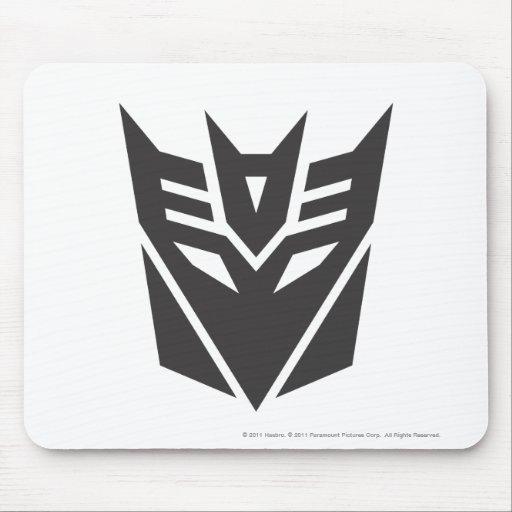Sólido del escudo de Decepticon Alfombrillas De Raton