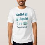 Sólido, líquido, gas: Ellos toda la materia Remeras