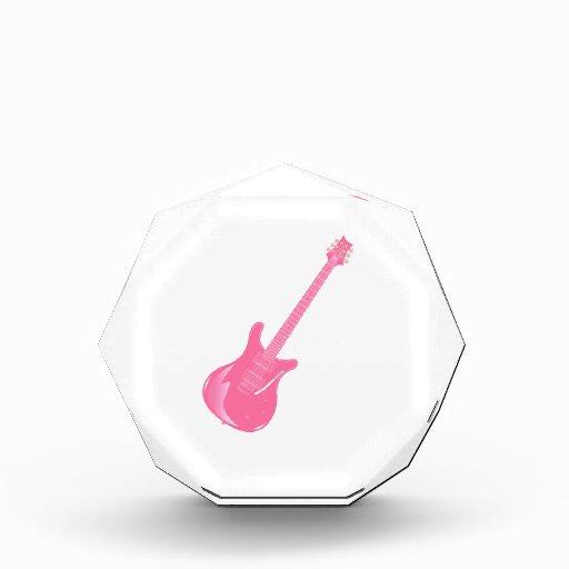 sólido rosa claro gráfico de la guitarra