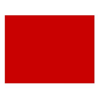 Sólidos rojos + Color de encargo Postales