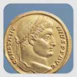 Solidus de Constantina I Pegatina Cuadrada