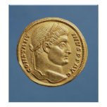 Solidus de Constantina I Póster