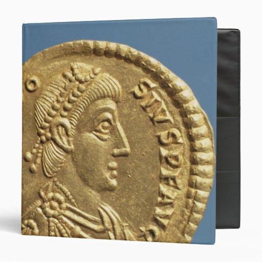 Solidus de Theodosius I el grande cubierto