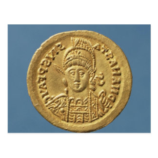 Solidus  minted by Theodoric I Postcard