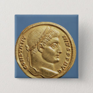 Solidus  of Constantine I Pinback Button