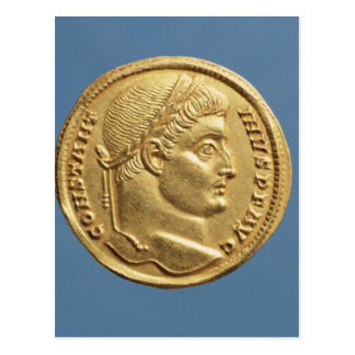 Solidus  of Constantine I Postcard