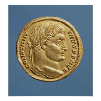 Solidus  of Constantine I Poster