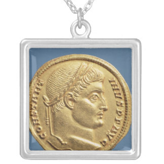 Solidus  of Constantine I Silver Plated Necklace