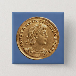Solidus  of Constantine II Caesar cuirassed Button