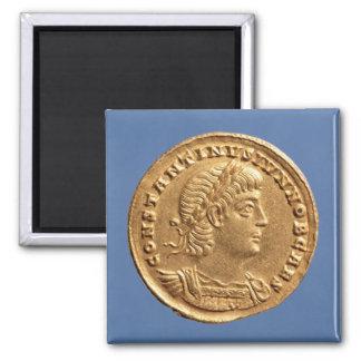 Solidus  of Constantine II Caesar cuirassed Magnet