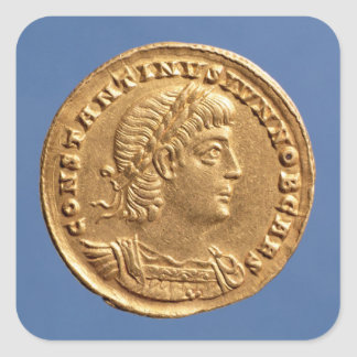 Solidus  of Constantine II Caesar cuirassed Square Sticker