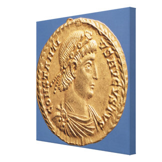 Solidus  of Constantinius II Canvas Print