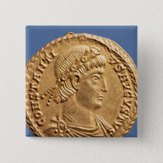 Solidus  of Constantinius II Pinback Button