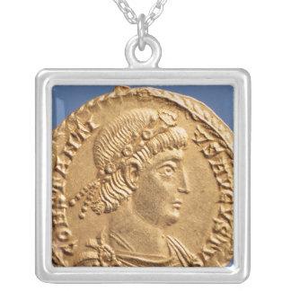 Solidus  of Constantinius II Silver Plated Necklace