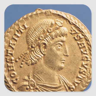 Solidus  of Constantinius II Square Sticker