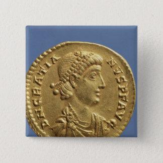 Solidus  of Gratian  draped Button