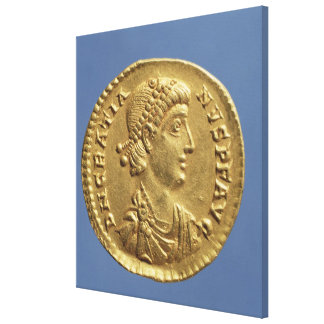 Solidus  of Gratian  draped Canvas Print