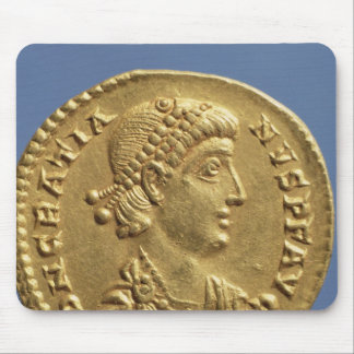 Solidus  of Gratian  draped Mouse Pad