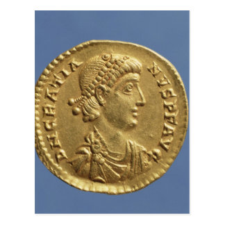 Solidus  of Gratian  draped Postcard