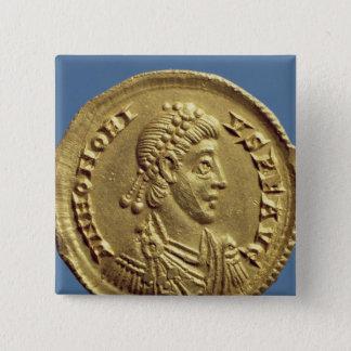 Solidus  of Honorius  drapes, cuirassed Pinback Button